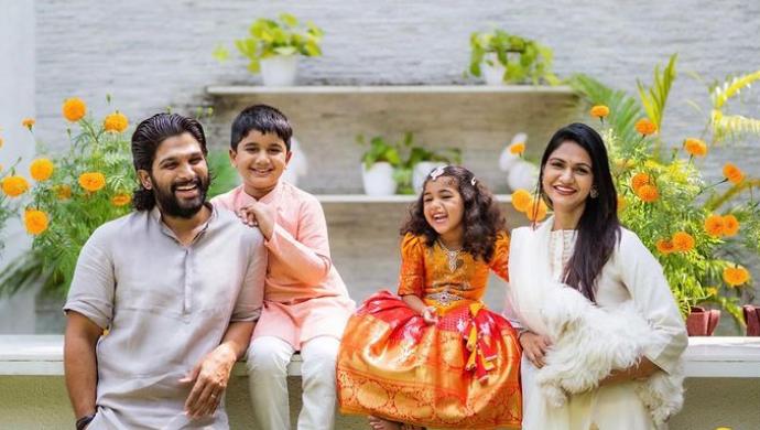 In Pics: Naa Peru Surya Na Illu India Stylish Star Allu Arjun is a complete family man!