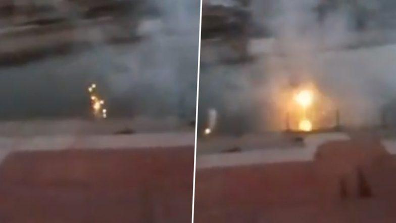 Madhya Pradesh: Series of Gas Explosions Erupt at Triveni Ghat of Ujjain's Shipra River (Watch Video)