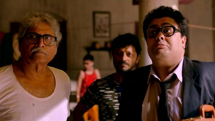 Ambarish Bhattacharya and Suprobhat Das in Saheber Cutlet