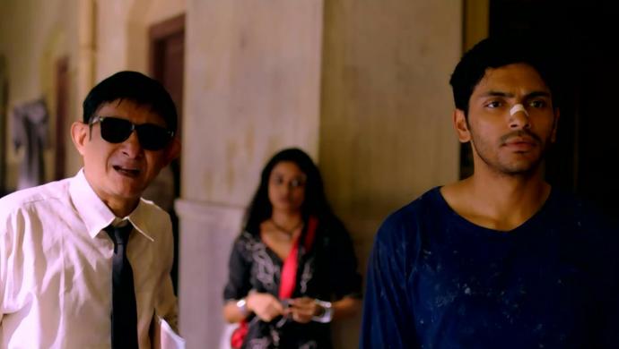Kanchan Mullick, Sritama Dey and Arjun Chakraborty in Saheber Cutlet