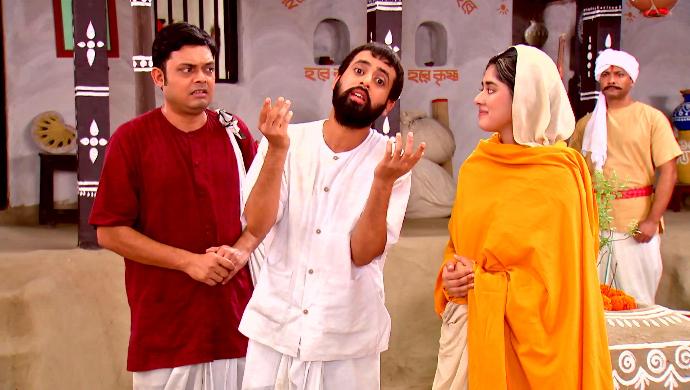 Gadadhar, Rani Rashmoni and Hriday in Rani Rashmoni
