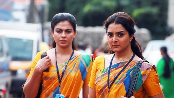 Manju Warrier and Anusree in Prathi Poovankozhi