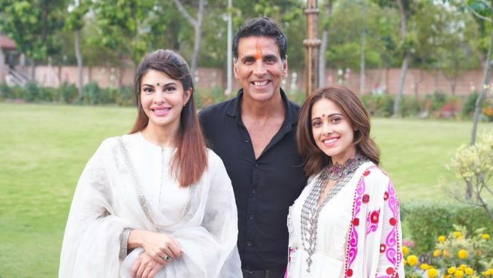 Ram Setu: Akshay Kumar, Jacqueline Fernandez And Nushrratt Bharuccha Return To Mumbai Post The Film's Mahurat Ceremony In Ayodhya