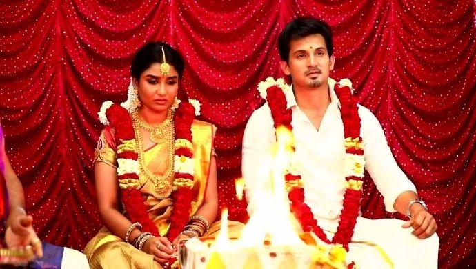 Shakthi and Adithya in Poovey Poochoodava