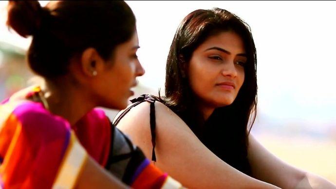 Anu and Gayathri in Sita on the Road