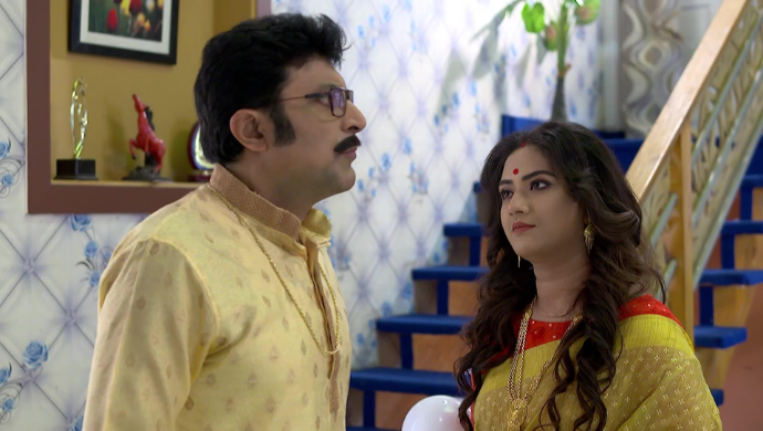 Geet and her father-in-law in Jamuna Dhaki