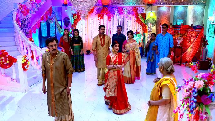 Jamuna, Kedar and Ray Familyin Jamuna Dhaki