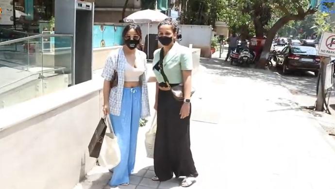 Neha Sharma And Sister Aisha Spotted Running Errands In Bandra; Watch