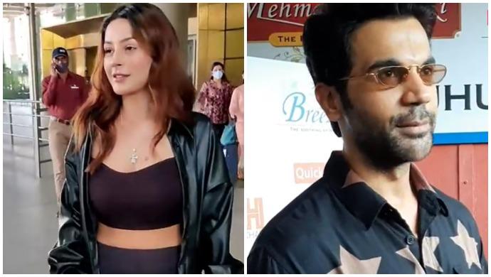 Shehnaaz Gill, Rajkummar Rao, Shamita Shetty Snapped In The City- Watch Video