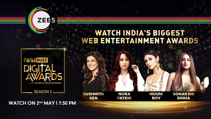 Watch IWMBuzz Digital Awards 2021 Exclusively On ZEE5 On May 02, 2021: Inside Nominations List