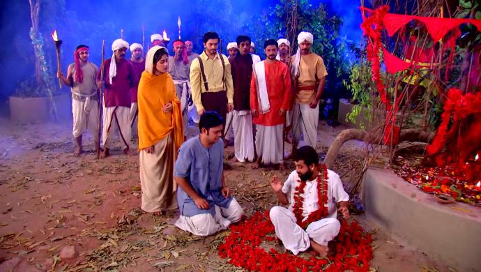 Gadadhar, Rani Maa and Hriday in Rani Rashmoni