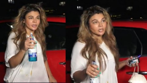 Rakhi Sawant Has A Fun Interaction With Paps As She Talks About Taking COVID-19 Precautions