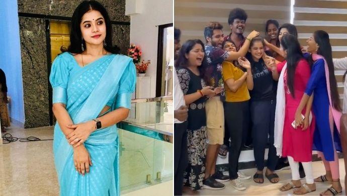 Neethane Enthan Ponvasantham's Mansi Aka Subiksha Kaya's Birthday Celebrations Done Right On Sets- Watch!