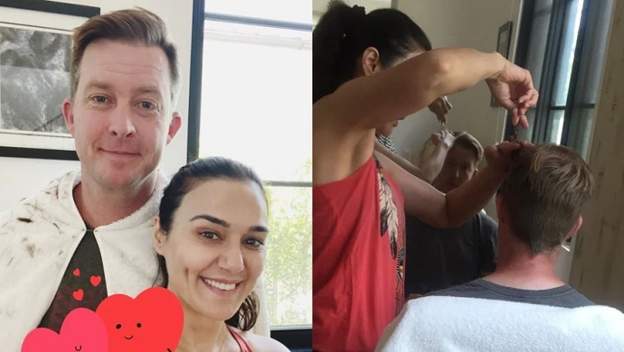 Preity Zinta Aces The Role Of A Hairdresser For Hubby Gene Goodenough, Watch Throwback Video