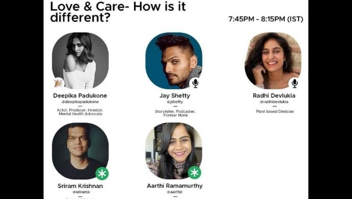 Deepika Padukone Launches Care Package On Clubhouse Ft Influencers Jay Shetty, Radhi Devlukia