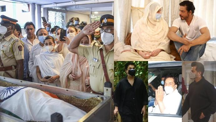 Veteran Actor Dilip Kumar Laid To Rest With State Honours; Dharmendra, Shah Rukh Khan, Anil Kapoor, Karan Johar Pay Last Respects