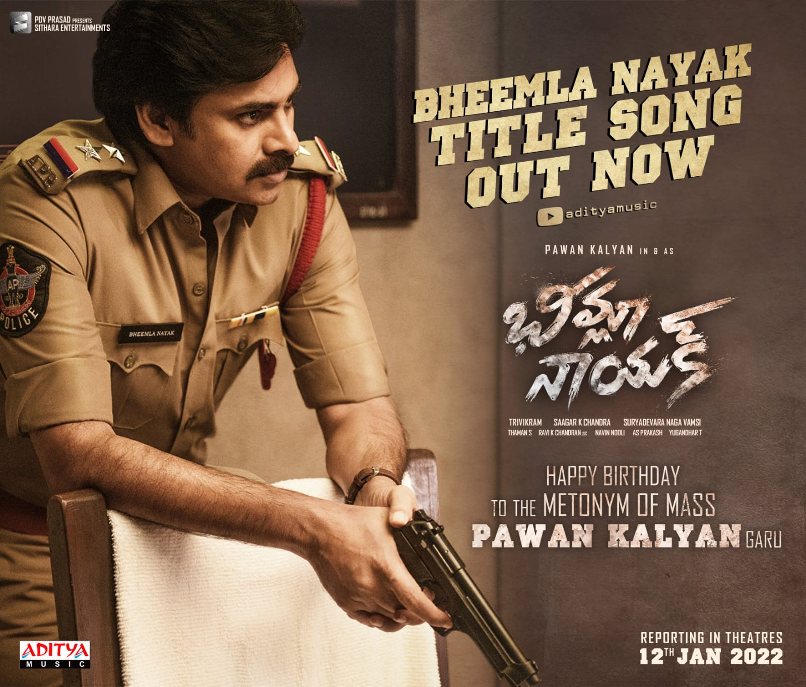 Pawan Kalyan's Bheema Nayak Title Song Is buzzing with more than 25 million views in a week