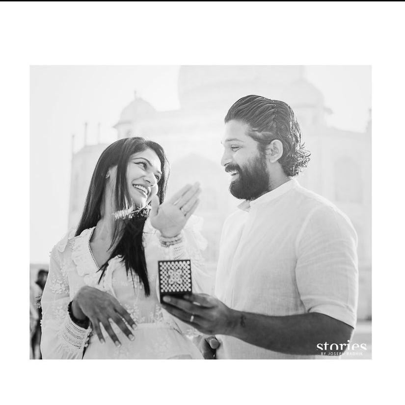 Allu Arjun's birthday wishes for his wife Sneha Reddy