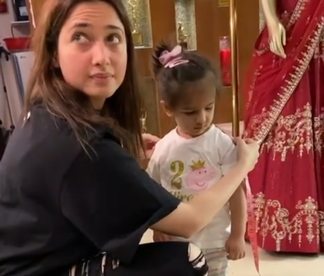 Tamannah Bhatia turns fashion designer for a toddler, and it's so cute