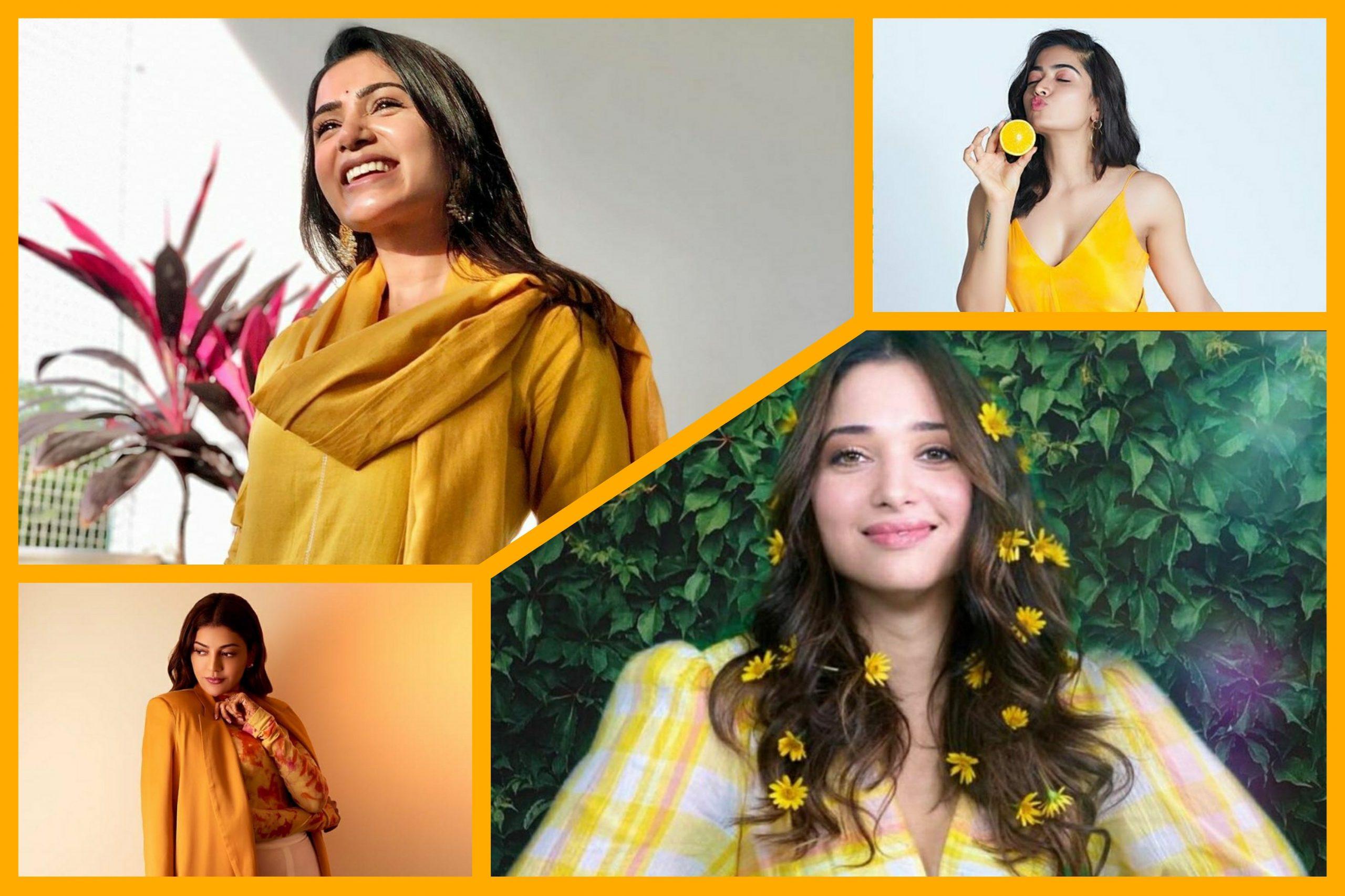 Samantha Ruth Prabhu to Kajal Aggarwal, these Tollywood divas make the weekend yellow