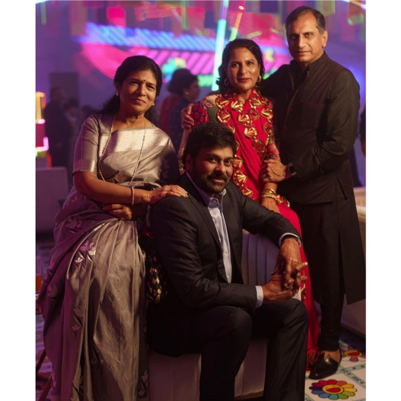Chiranjeevi and Family shows up in precious and picture perfect pics