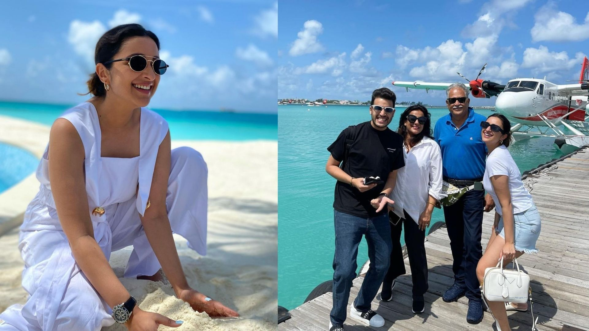 Parineeti Chopra Is A Vision In White In Her Latest Photos From Maldives; Actress Has A Gala Time With Fam-Jam