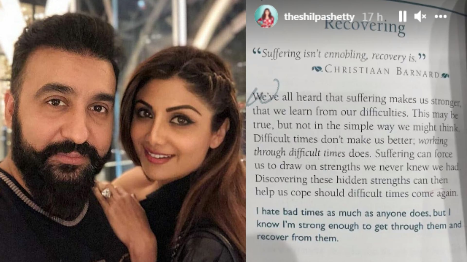 Shilpa Shetty Shares Another Page Of Her Cryptic Stories And This Ones About Recovering