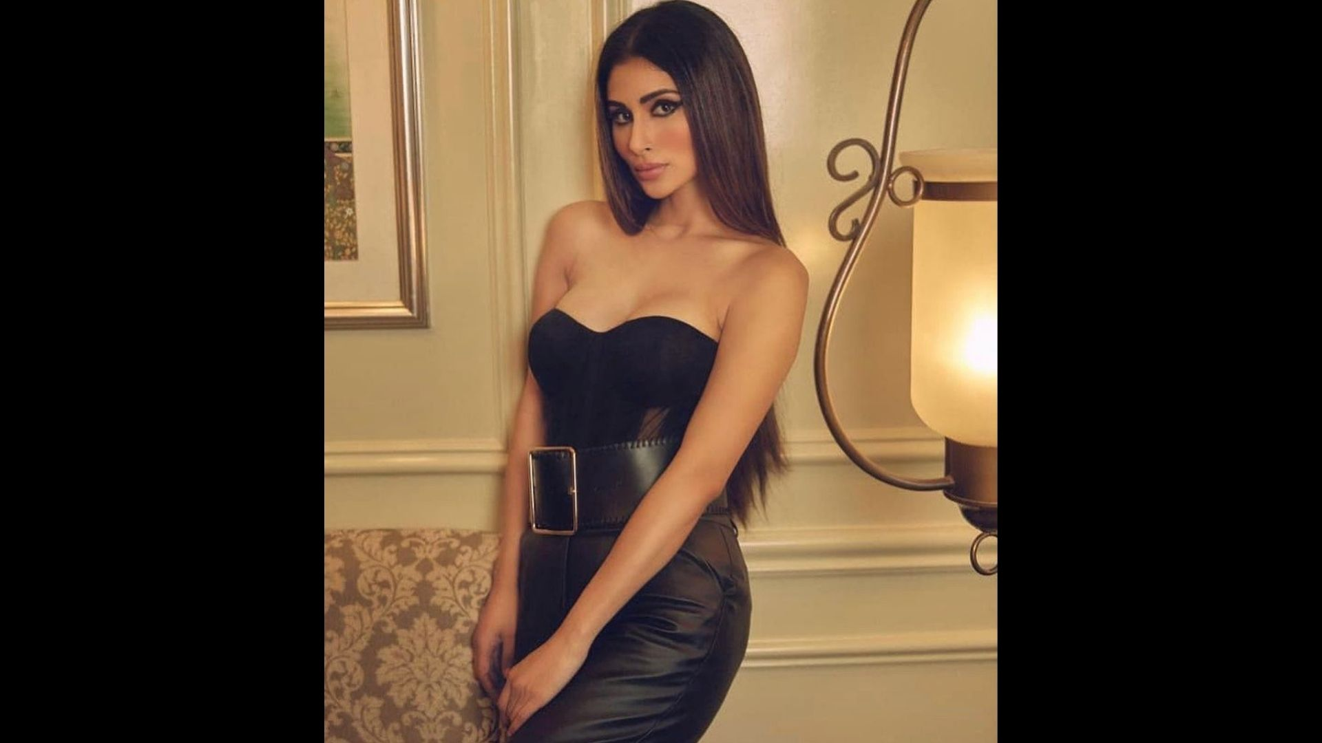 Mouni Roy Is A Vision To Behold In An All-Black Outfit; Actress Carries Leather Pants Like Nobody Else