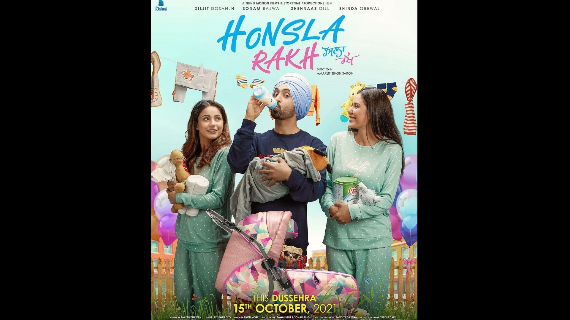 After Sidharth Shukla's Death, Shehnaaz Gill To Return To Silver Screen With Diljit Dosanjh's Honsla Rakh; Makers Announce The Trailer Release Date