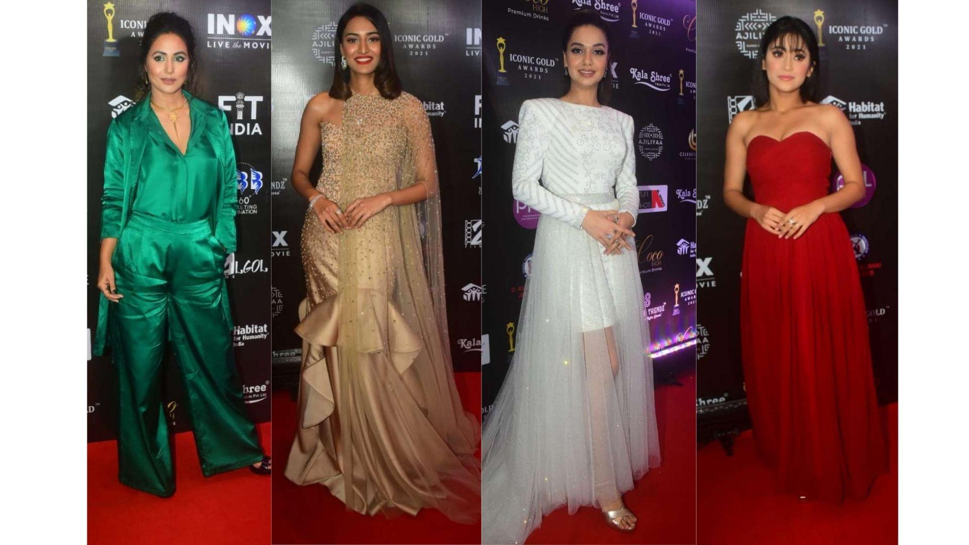 Iconic Gold Awards Red Carpet: Hina Khan, Shivangi Joshi, Surbhi Chandna And Others Make A Fashion Splash