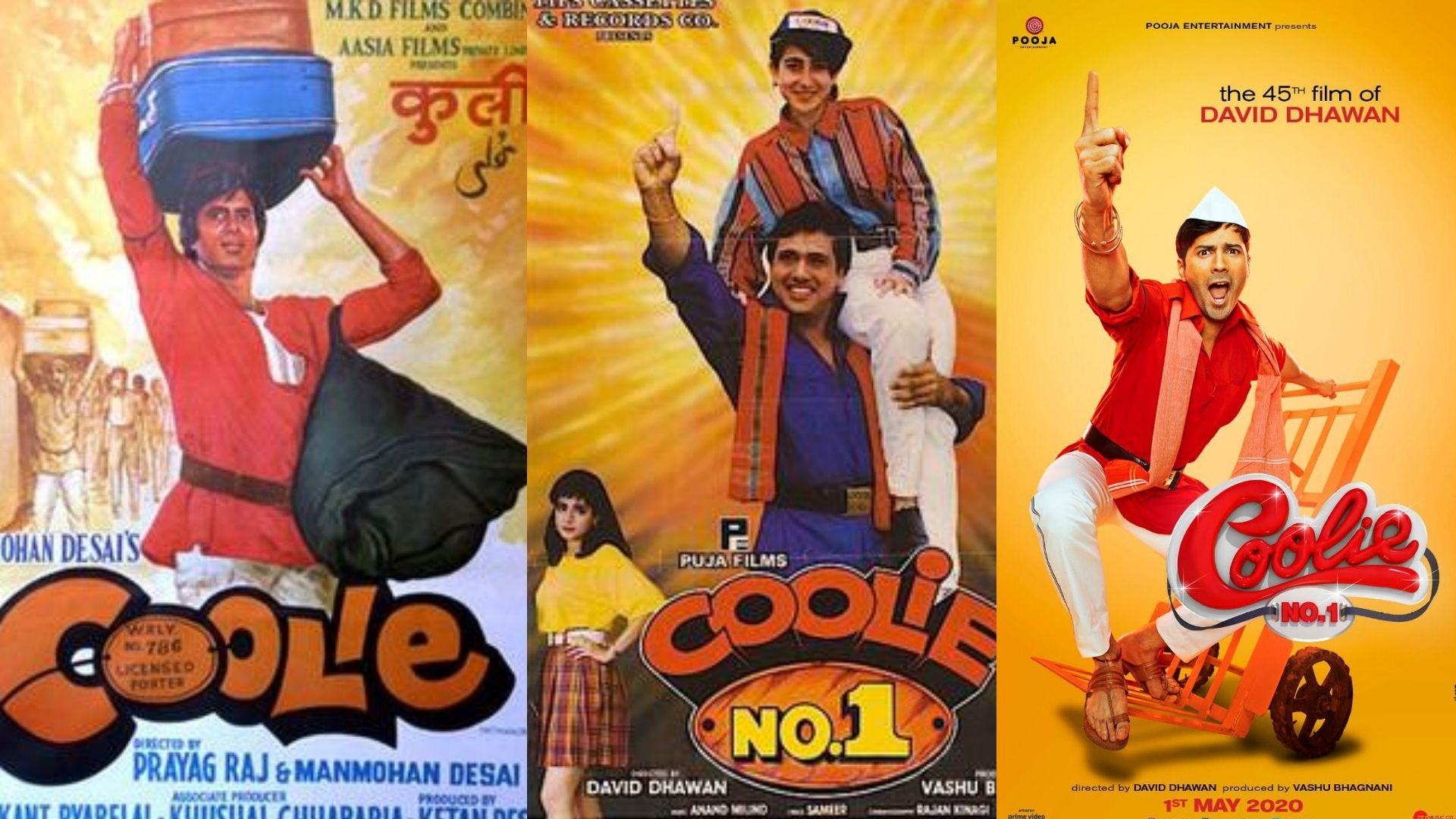 Amitabh Bachchan To Varun Dhawan- These Actors Made For The Best Coolie In Films