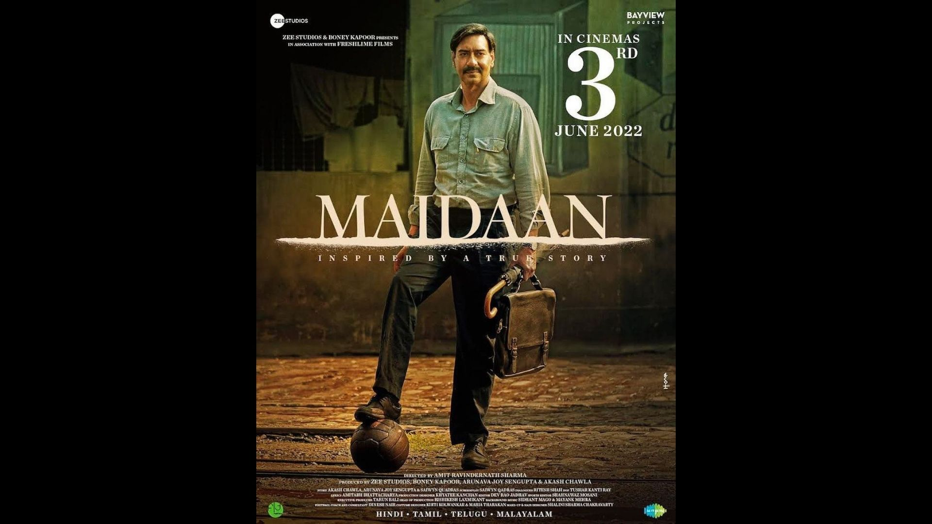 Maidaan Official Poster Out: Ajay Devgn Shares First Glimpses; Film To Release In October On THIS Date