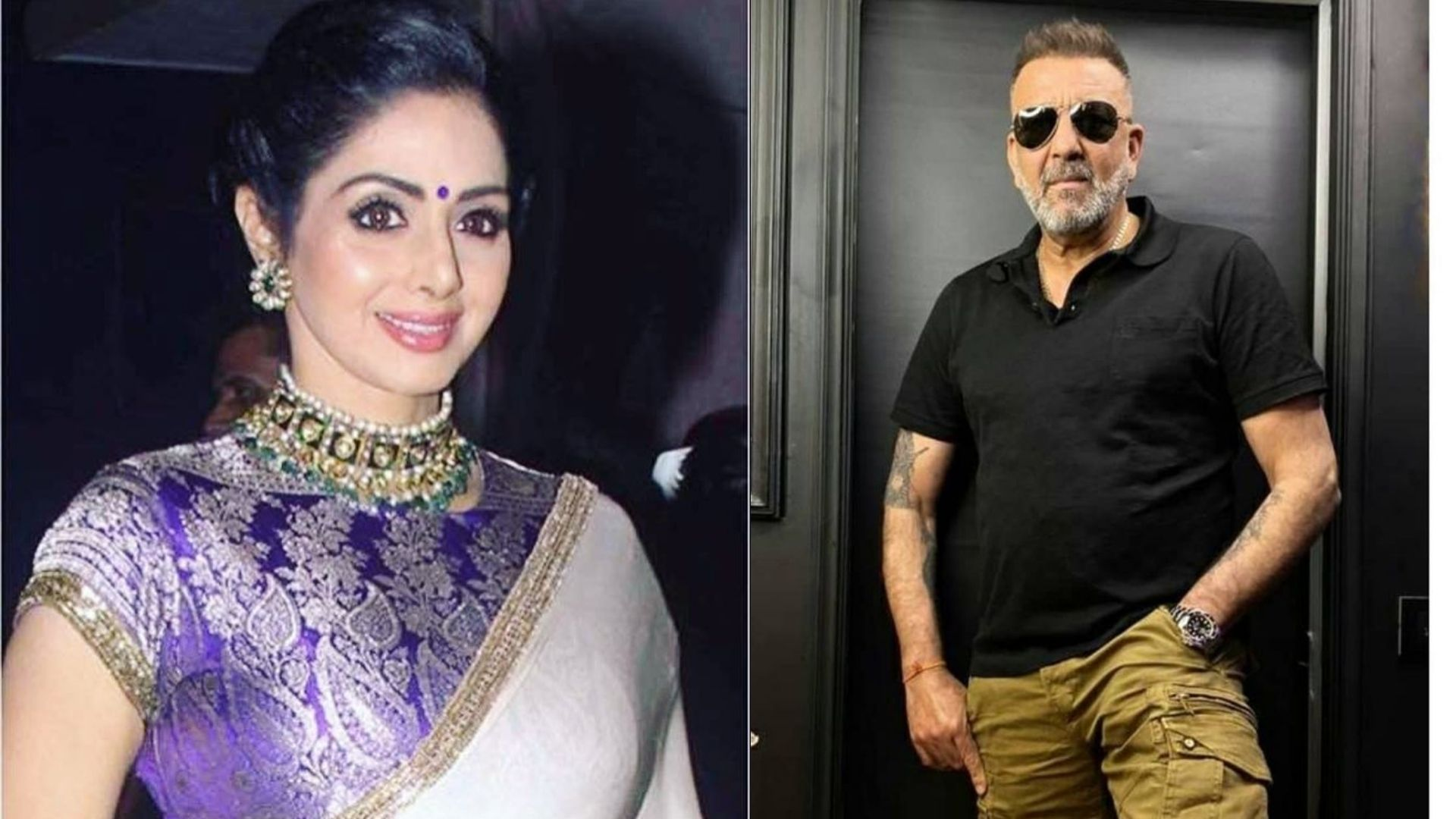 Throwback To Time When Sridevi's Fan Sanjay Dutt Made A Sudden Appearance In Her Room Leaving Her Scared