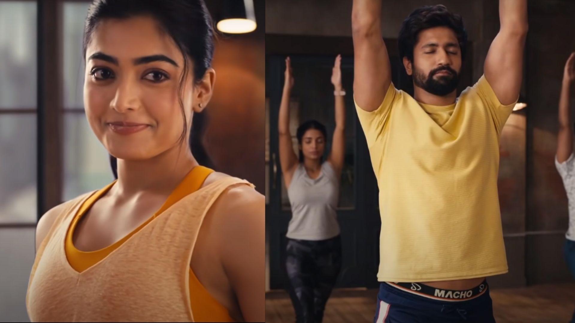 Rashmika Mandanna Gets Trolled For Gawking At Vicky Kaushal's Underwear Strap In An Ad