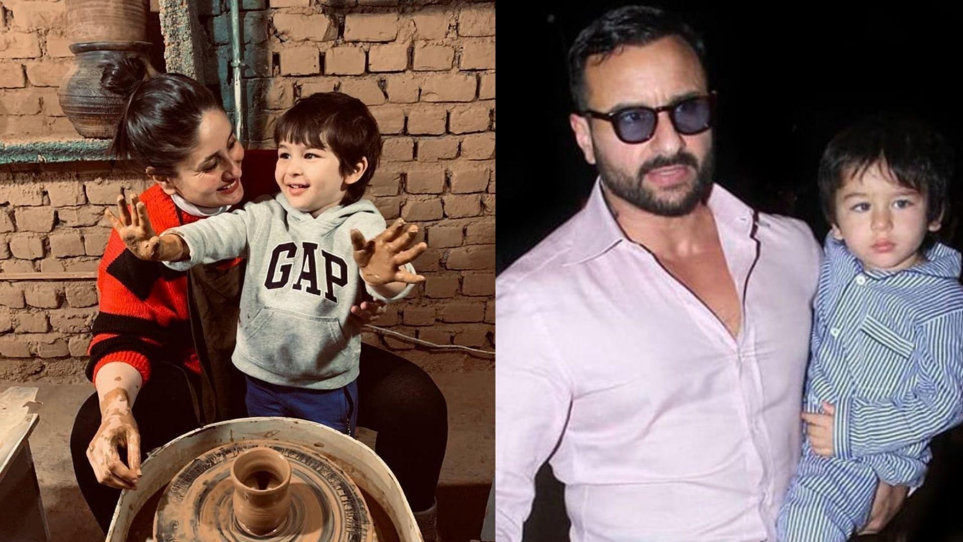 After Kareena Kapoor Khan Said No Bollywood For Tim And Jeh, Papa Saif Ali Khan Shares An Acting Advice For Them To Make It 'Entertaining'