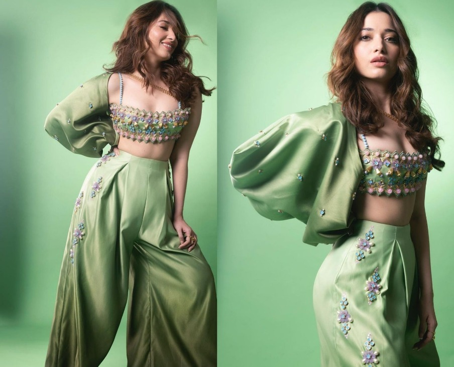 Tamannah Bhatia's All Green Look  Is All Things Electric
