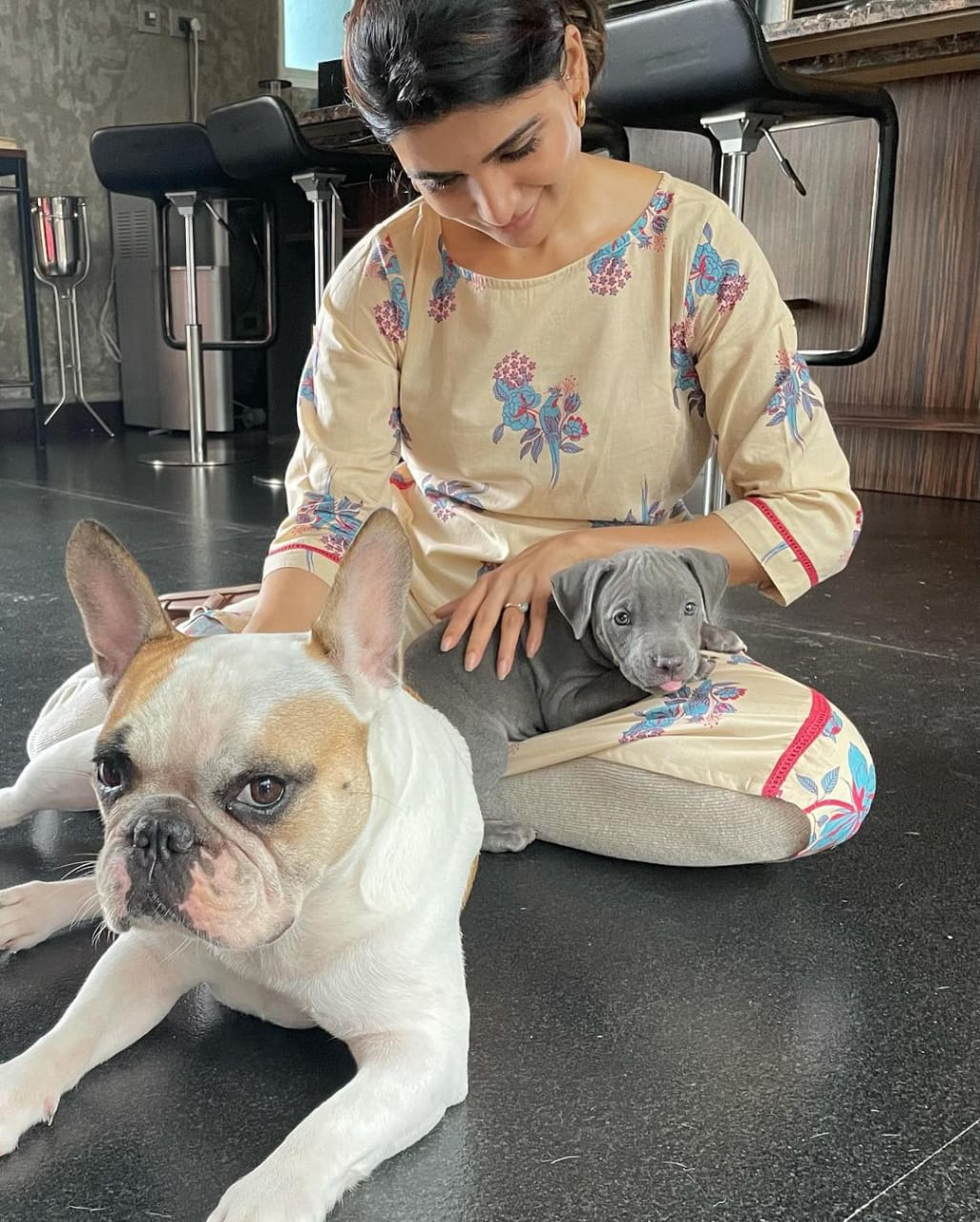 Samantha Akkineni recently welcomed a new dog in the family, and the snaps are too adorable to skip