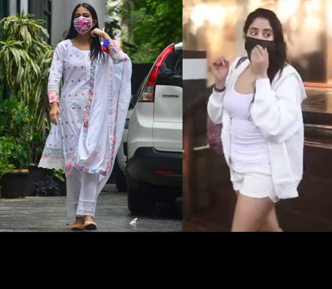 Sara Ali Khan Looks Drop-dead Gorgeous In Traditional Avatar While Janhvi Kapoor Aces The Casaul Look After Sweating It Out