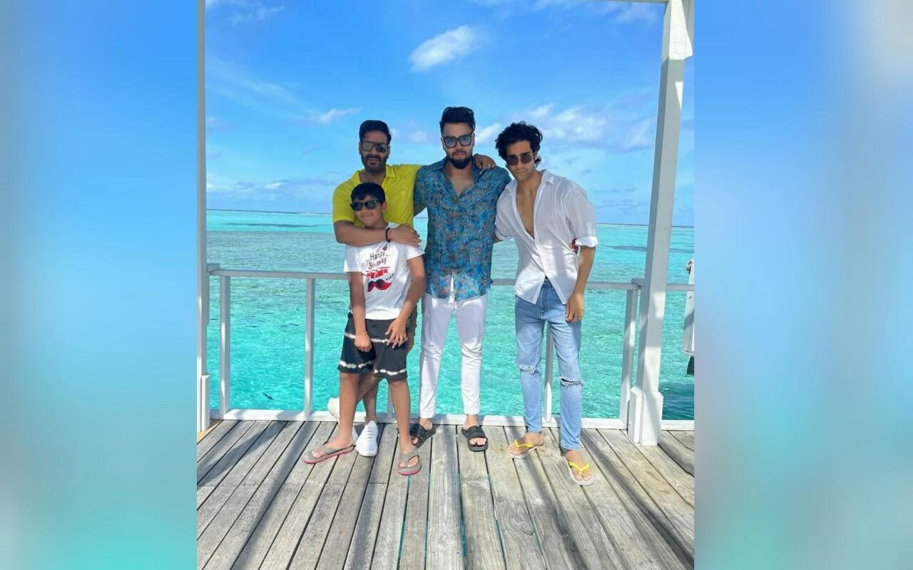Ajay Devgn Celebrates Son Yug's 11th Birthday In Maldives; Shares Pic Of Them Chilling Together