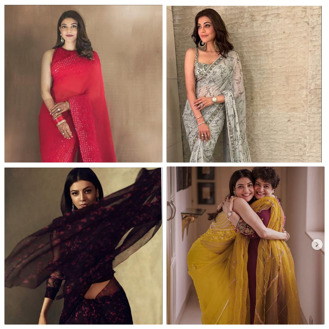 The times when Kajal Aggarwal slayed it like a diva in saree, giving us saree goals