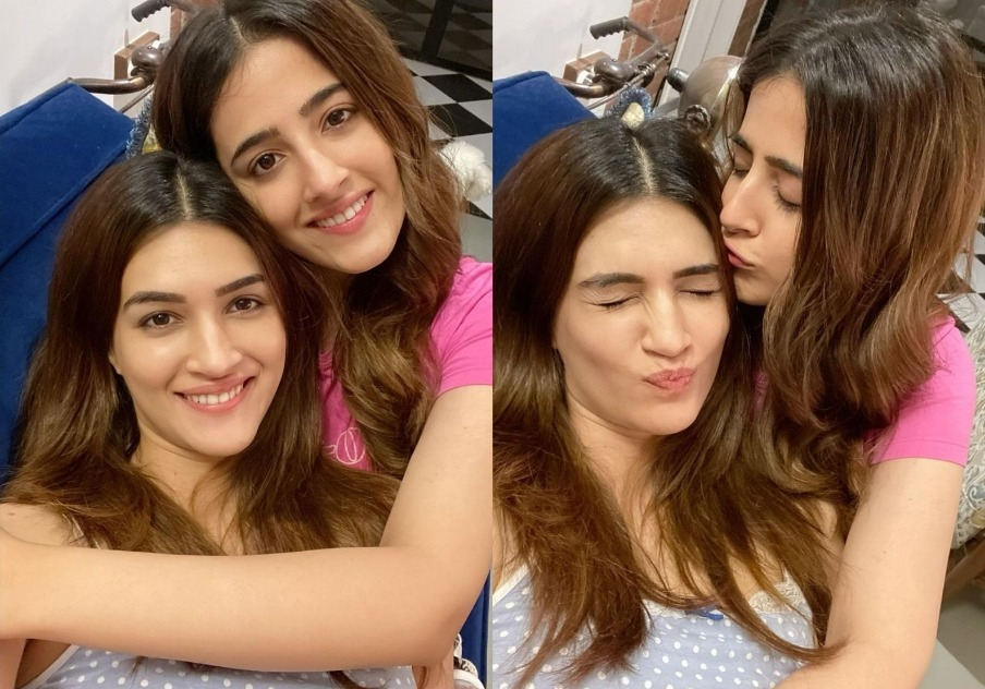 Photos Of Kriti Sanon And Her Sister Nupur Sanon That Give Us Major Sibling Goals