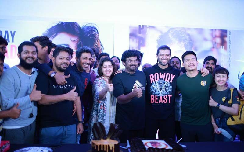 Puri Jagannadh's birthday celebrations on the sets of Liger