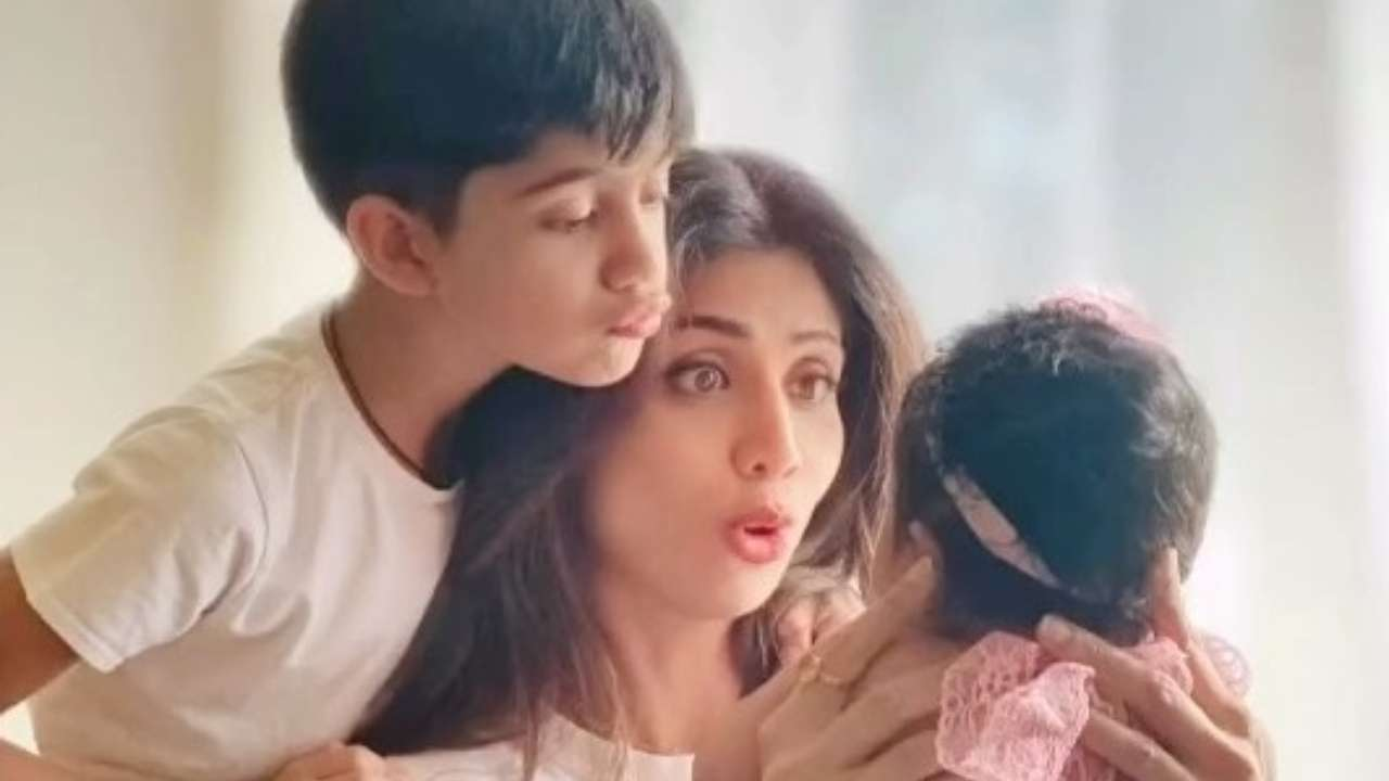 Shilpa Shetty Heads For A Family Vacay Time With Kids Viaan And Shamika; We Wonder Where Raj Is?