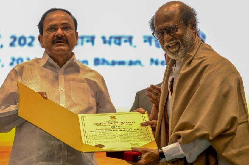 'Thalaiva' Rajinikanth honoured with Dadasaheb Phalke award