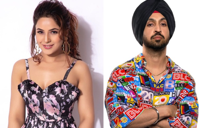 After Diljit Dosanjh Shares A Video With Shehnaaz Gill From The Film Promotions; SidNaaz Trend '#HonsalaRakhShehnaaz' On Twitter