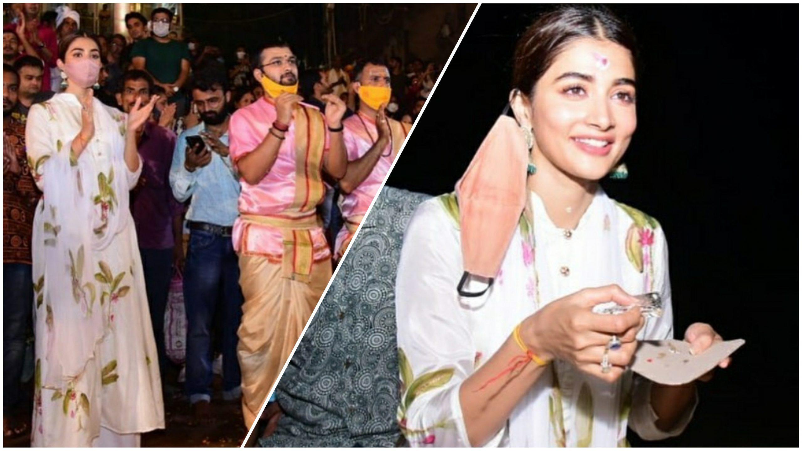 Pooja Hegde seeks blessings in Varanasi for her upcoming projects