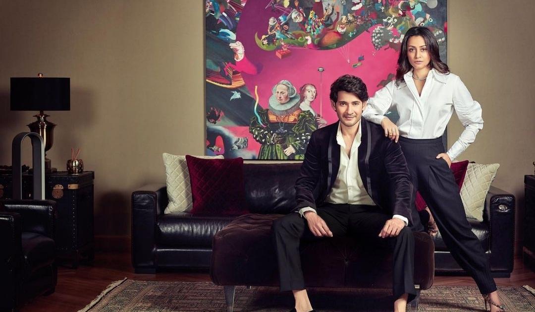 Mahesh Babu and Namrata pose for a magazine