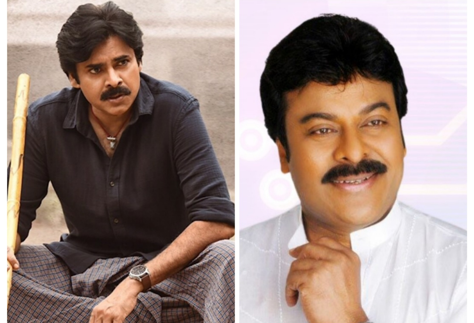 At this site in Hyderabad, Chiranjeevi and Pawan Kalyan were spotted together