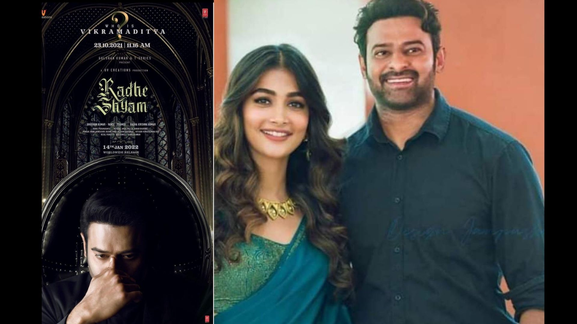 RadheShyam: Makers Share A Brand New Poster Of Prabhas And Pooja Hegde Starrer; Teaser To Unfold On The Actor's Birthday