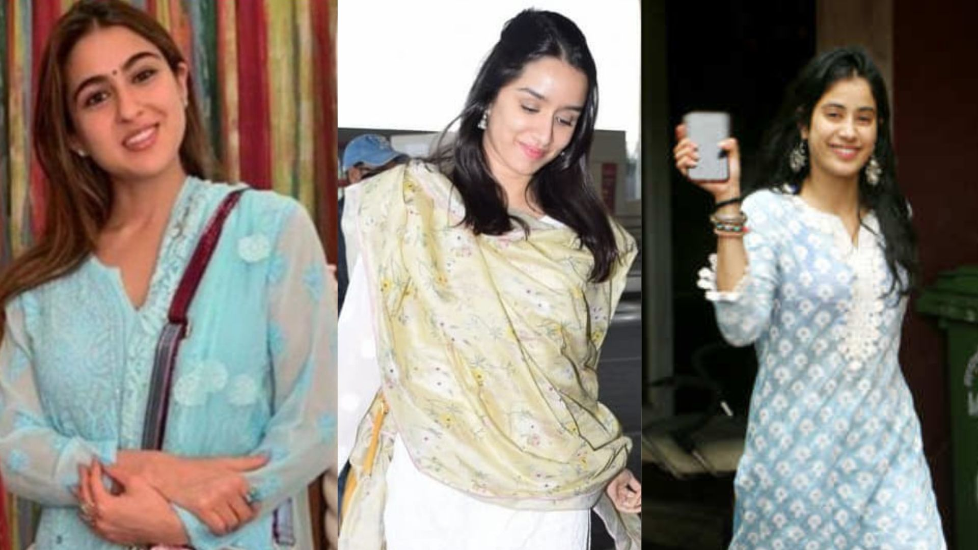 Sara Ali Khan, Janhvi Kapoor, Or Shraddha Kapoor- Who Rocked The Traditional Outfit Better?
